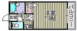 ハイツキシダ[106号室]の間取り