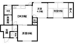 福本ハイツII[2階]の間取り