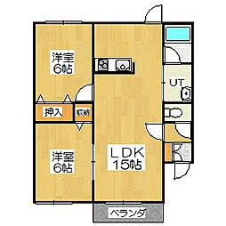 Mハイツ高砂5[2階]の間取り
