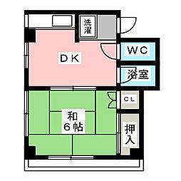パークサイド木村[3階]の間取り