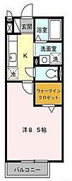 宮崎県宮崎市恒久4丁目の賃貸アパートの間取り