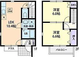 [テラスハウス] 茨城県鉾田市舟木 の賃貸【/】の間取り