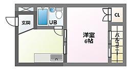 ハイツサンハイ[4階]の間取り