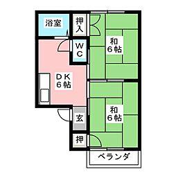 コーポラス飯田A棟[1階]の間取り