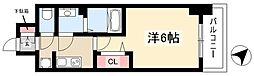 アステリ鶴舞トゥリア 7階1Kの間取り