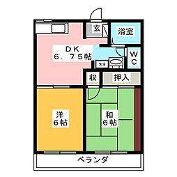 リヴェール吉澤[2階]の間取り