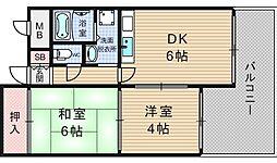 ハイムK2[301号室]の間取り