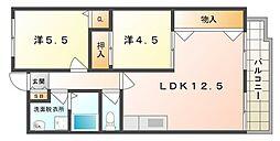 メゾンドエルGE[2階]の間取り