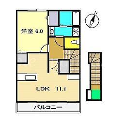 ジェルメみずほ B[2階]の間取り