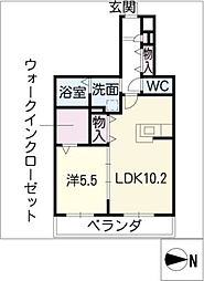 ドルクスコート[1階]の間取り