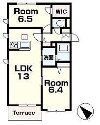 (仮称)シャーメゾン本堅田2丁目[1階]の間取り