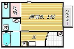 東京都墨田区立花6丁目の賃貸アパートの間取り