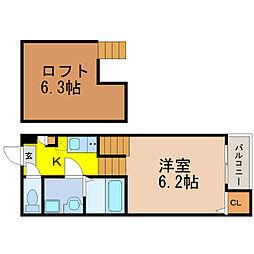 リアンハイム六番[1階]の間取り