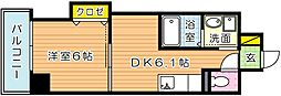 THE SQUARE Suite Residence(ザ・ス[403号室]の間取り