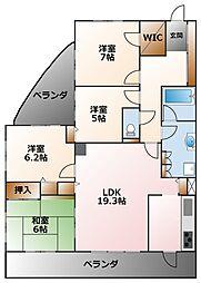 (分譲)プラネスーペリア甲子園一番町[1階]の間取り