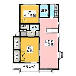 UraraV[2階]の間取り