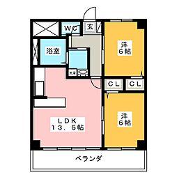 ロイヤルヒルズ美旗[2階]の間取り