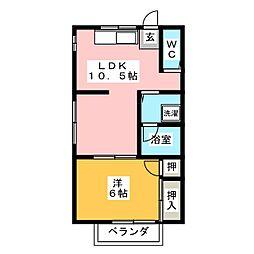 コーポ新栄[1階]の間取り