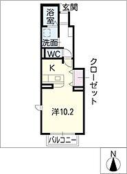 エテルノII[1階]の間取り