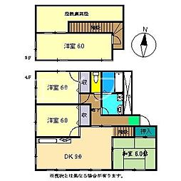 コーポ二宮III[4階]の間取り