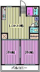 松沢マンション[201号室]の間取り