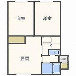 ラフォーレ12[4階]の間取り