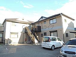 兵庫県宝塚市山本中2丁目の賃貸アパートの外観