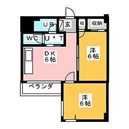 第7スカイビル[6階]の間取り