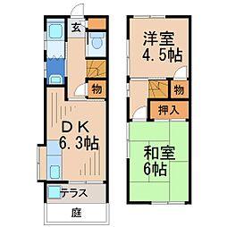 揚羽荘[1階]の間取り
