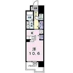 JR徳島線 蔵本駅 徒歩14分の賃貸マンション 1階1Kの間取り