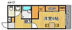 レオパレスパルフェ[2階]の間取り