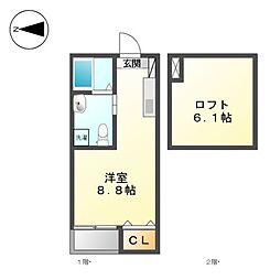 KAHALE志賀[1階]の間取り