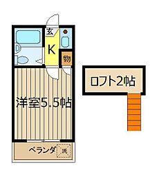 宝栄ハイツ根岸台[2階]の間取り