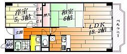 ブレスト千里丘[4階]の間取り