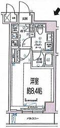 都営新宿線 住吉駅 徒歩10分の賃貸マンション 1階1Kの間取り