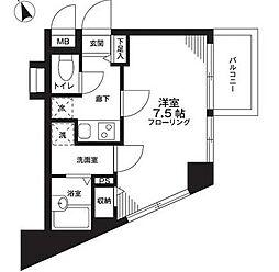 東京都新宿区余丁町の賃貸マンションの間取り