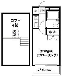 神奈川県川崎市多摩区西生田5丁目の賃貸アパートの間取り