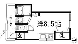[テラスハウス] 兵庫県川西市美園町 の賃貸【/】の間取り