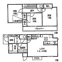 [一戸建] 東京都多摩市連光寺5丁目 の賃貸【/】の間取り
