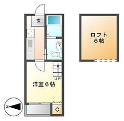 stage瓢箪山(ステージヒョウタンヤマ)[2階]の間取り