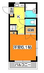 東京都東久留米市本町1丁目の賃貸アパートの間取り