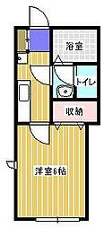 キャメル松戸大谷口II[102号室]の間取り