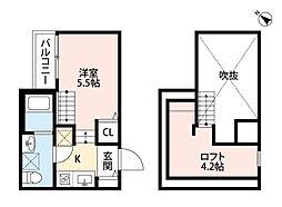 ハピネス II 吉塚[2階]の間取り