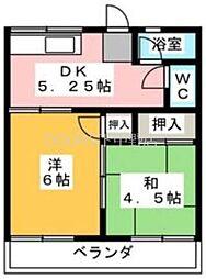 岡アパート 北棟[2階]の間取り