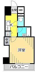 パークウェル国分寺[6階]の間取り