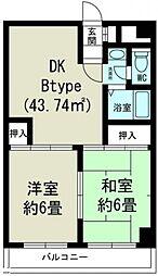 上新庄グランドハイツ[8階]の間取り