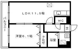 桜レジデンシャル[505号室]の間取り