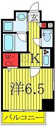 JR埼京線 板橋駅 徒歩3分の賃貸マンション 5階1Kの間取り