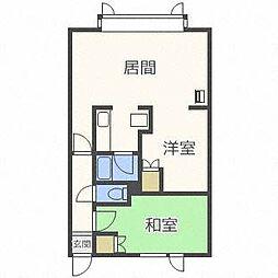 瀬比亜館セゾンI[3階]の間取り