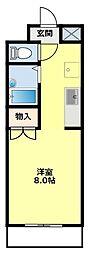 愛知県豊田市白山町の賃貸マンションの間取り